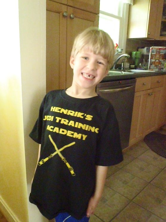 H's Jedi Training Academy! T-shirt courtesy of CustomInk.