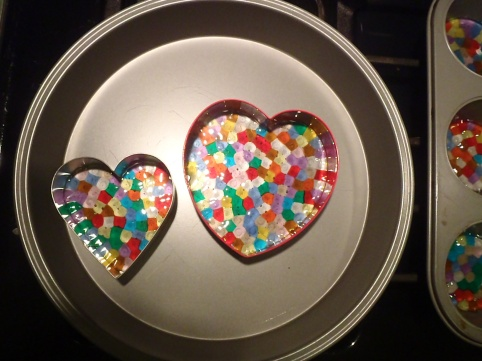 Two hearts! In cookie cutters!