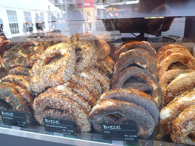 The Swiss are obsessed with pretzels.