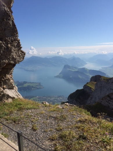 The view off the top of Mt. Pilatus.