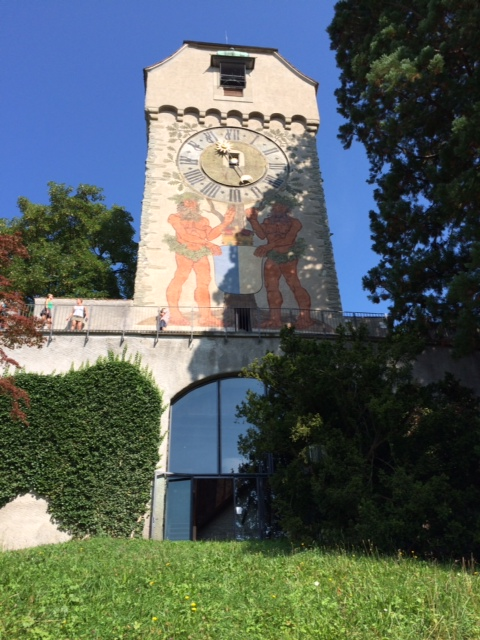 The oldest clock tower in Switzerland. Possibly in the whole of Europe.  It is extremely beautiful and the climb to the top is extremely high.  The children enjoyed it very much.