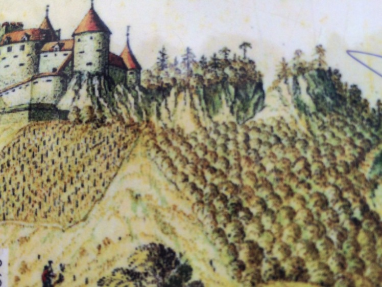 An illustration of the Chateau de Landskorn from the 1300.