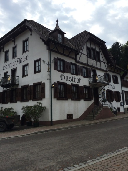 The restaurant we ate at on our way to Triberg. It turns out it was Michelin rated!
