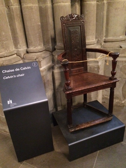 Calvin's chair is in the Cathedral.
