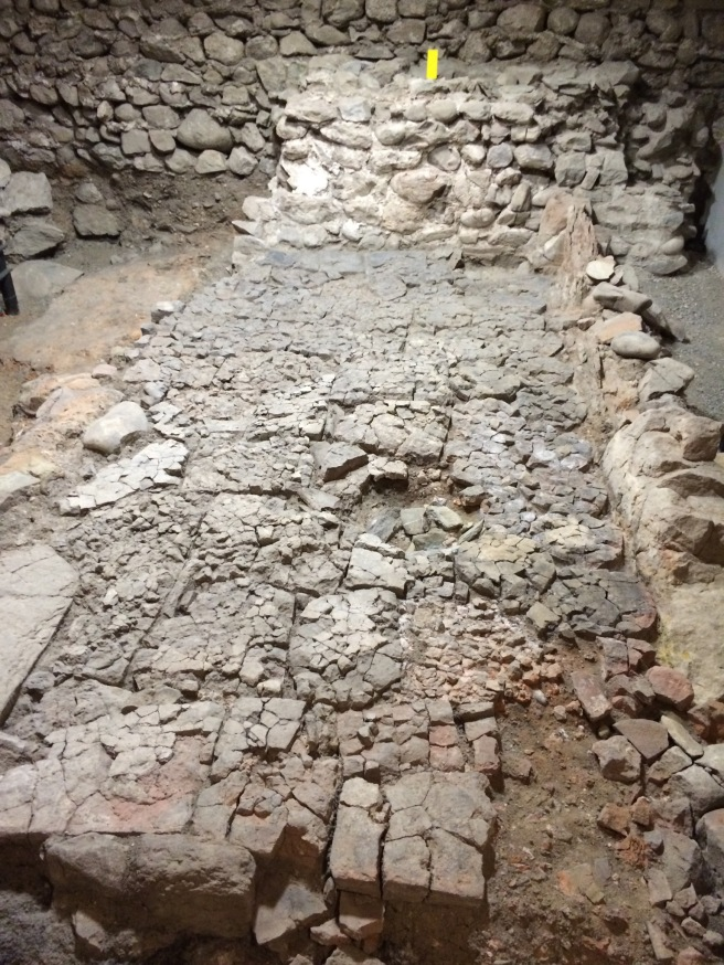 Part of the Monk's living quarters. This is where they would dry corn. (This picture is for my Dad and brother.)