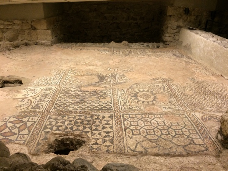 A beautifully preserved mosaic floor from the 1400s