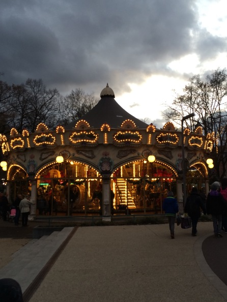 This is France so of course every park must have a carousel.  This one lights up!