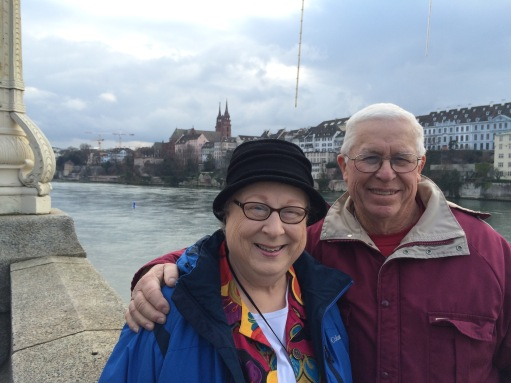 The Rheinbrucke. A beautiful bridge over the Rhein River.  One of my favorite pictures of my parents.