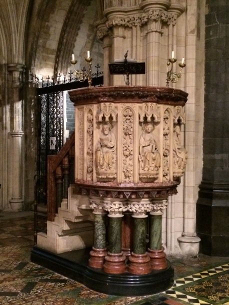 The pulpit.  It's one of the more ornately carved that I have seen in our travels.