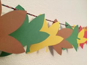 The autumn leaf chain the boys made.