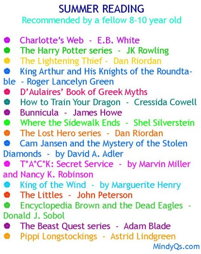 Summer reading list e