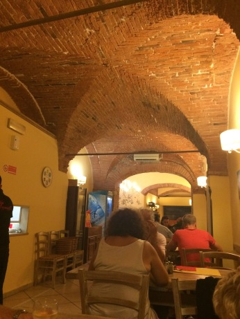 The inside of the restaurant we ate in that first night. It was perfect.
