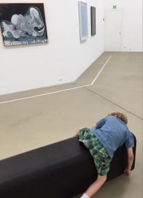 Henrik at the Art Museum 2015