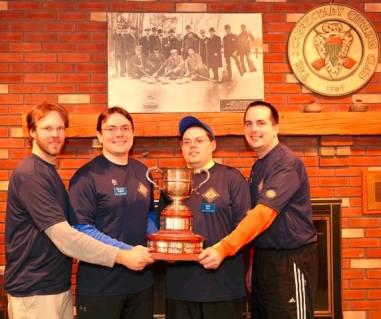 Mark curling trophy