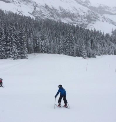 Evan skiing Kandersteg 2016